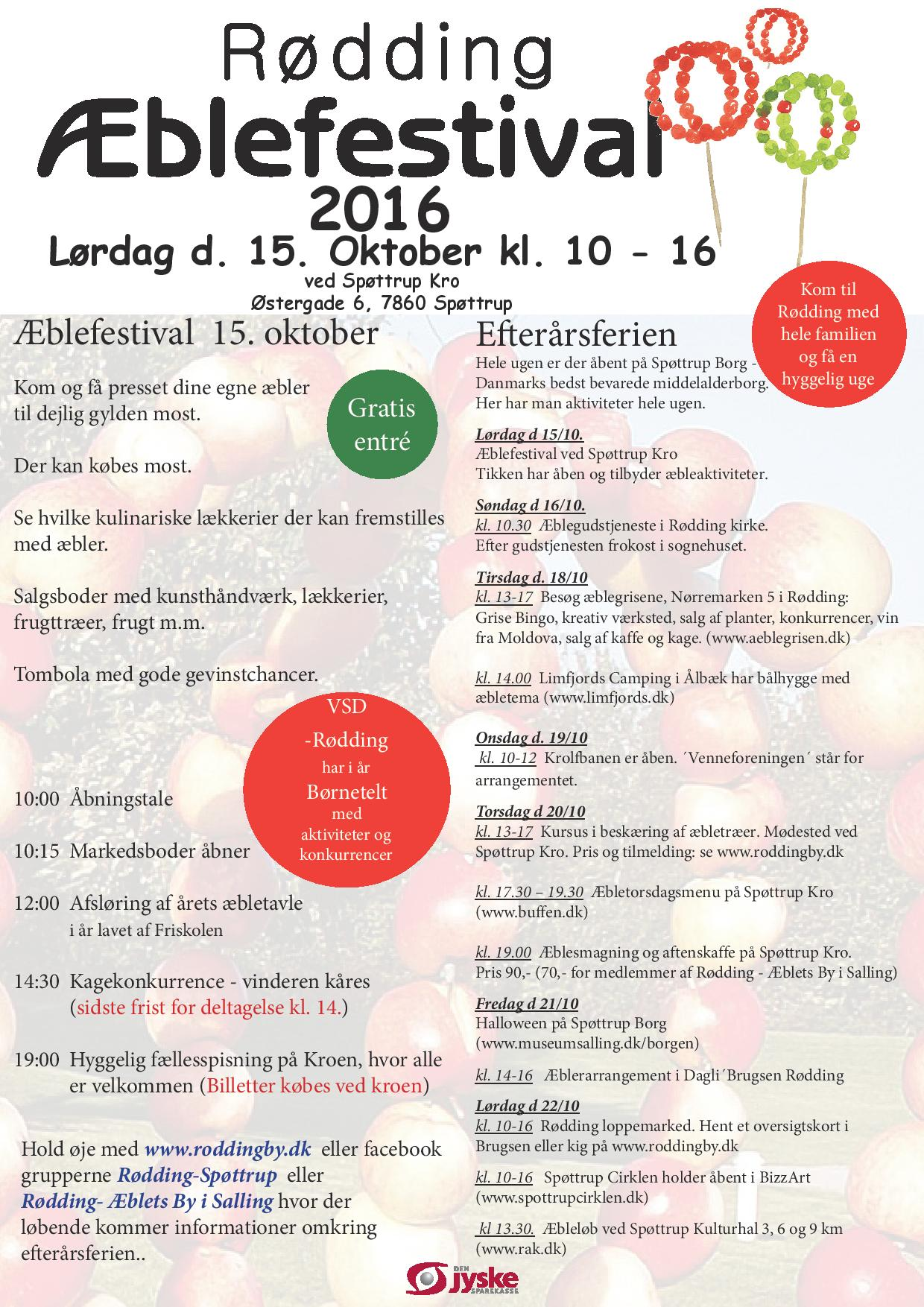 Program for årets Æblefestival
