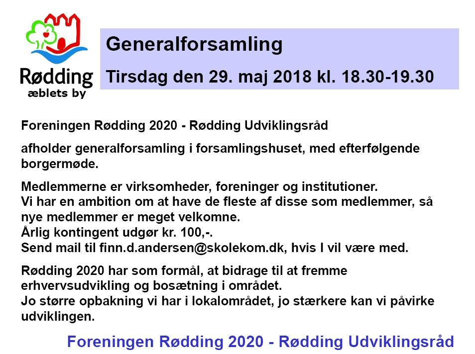 Generalforsamling i Rødding 2020